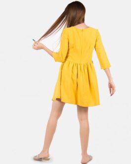Vestido Liso – Amarillo