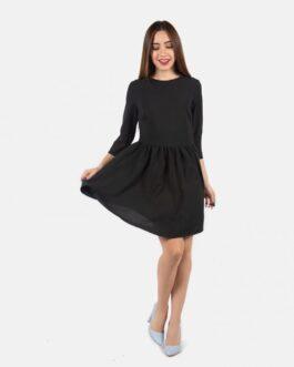 Vestido con vuelo – Negro