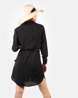 Vestido Camisero – Negro
