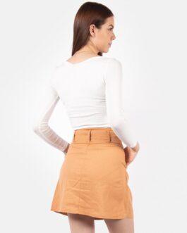 Falda con Cinturón – Mostaza
