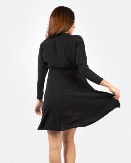 Vestido Manga Larga – Negro