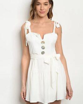 Vestido Botones – Blanco