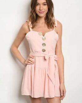Vestido Botones – Rosa