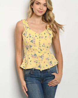 Blusa – Amarilla / Flores
