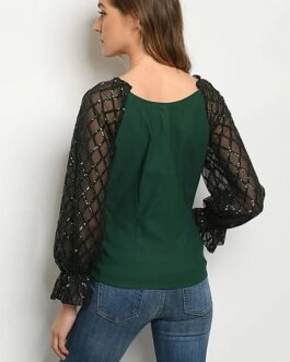 Blusa – Negro/Verde