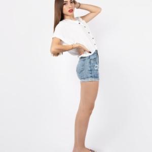 Blusa Botones – Blanca