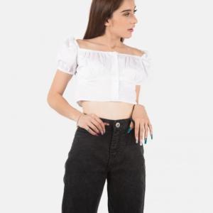 Blusa Tipo Campesina – Blanco