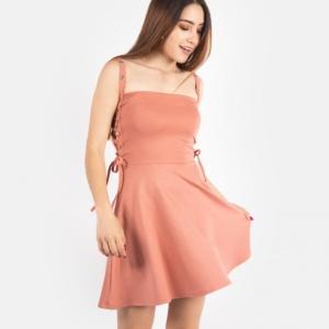 Vestido Cintas – Palo de Rosa